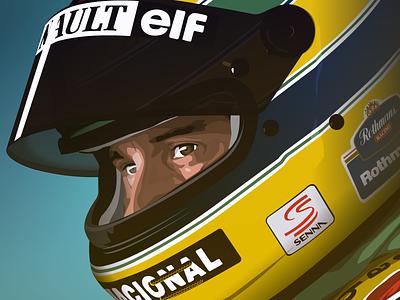Senna racing formula1 formula 1 motorsport brazin aryton senna senna illustration