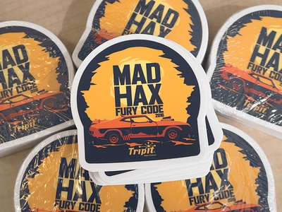 Mad Hax: Fury Code sticker mule stickers dessert car mad hax mad max hack day illustration