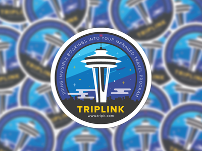 Seattle Space Needle sticker mule sticker plane sunset night stars illustration skyline needle space seattle