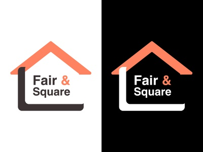 Fair & Square Logo app logo illustration typography branding design vector