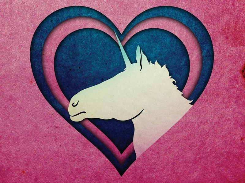 I love Unicorns Sticker Design sticker heart unicorn illustrator illustration branding vector design