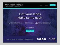 TheLeadsExchange website concept #4