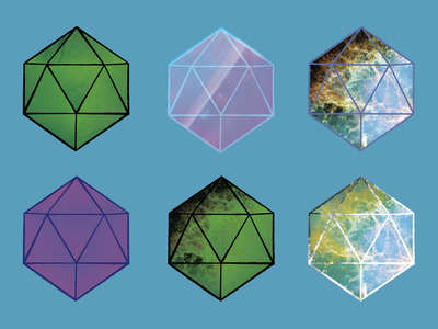 twenty sided dice icons