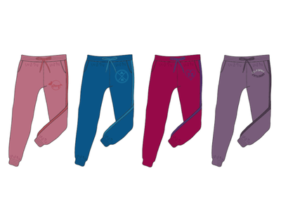 Jogger Designs, CADs clothing design illustration branding design vector