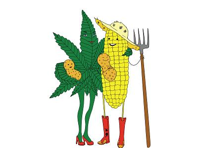 Illustration for edibles company illustration branding design vector