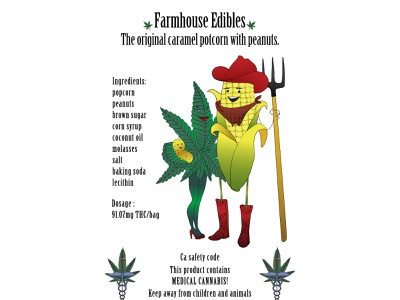 Label mock up for edibles company edibles marijuana illustration typography branding design vector