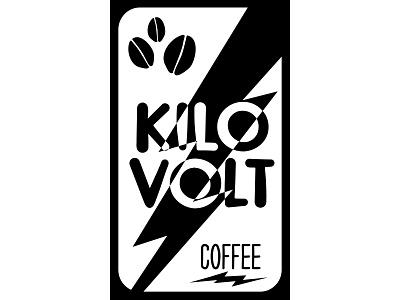 Sticker Design made for Kilovolt Coffee coffee sticker illustration typography branding design vector