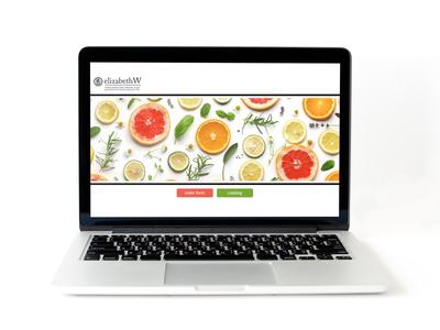 Simple web page design web typography branding design vector