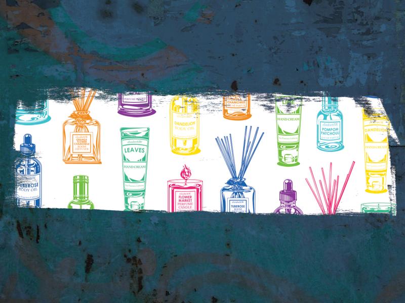 Banner for products on elizabethW banner branding design vector