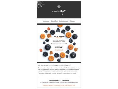 Halloween Email Design typography branding vector design email halloween