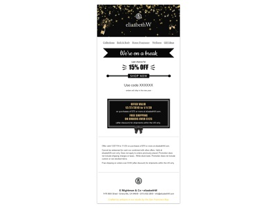 New Years Email new years email typography branding design vector