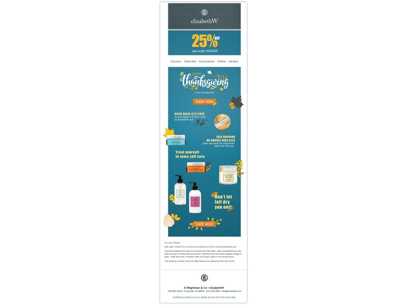 Alternate Thanksgiving Email Design email thanksgiving typography branding design vector