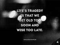 Life's tragedy v2