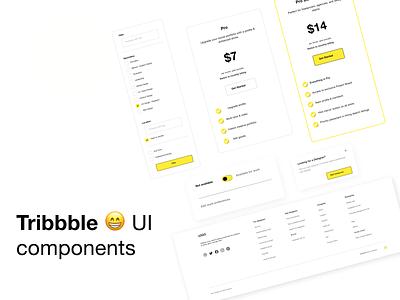 Tribbble UI Components Redesign uicomponent graphic design app icon ui typography ux vector branding logo illustration design