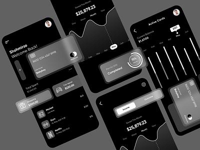 Dark Mode Payment App Design Concept appdesign app payment best glassmorphism dark darkmode webdesign ux ui