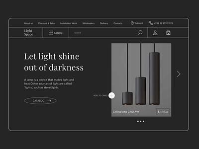 "Led Lights Dark Web Design Concept ""Minimalism"" like ui8 cuberto top minimalism design darkmode clean popular webdesign ux ui"