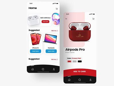 Online Shop Mobile Application like top appdesign lightmode ui8 cuberto design darkmode clean app popular webdesign ux ui