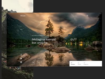 Travel Site - Landing Page Concept usa like top dribbble ui8 cuberto travel design darkmode clean app popular webdesign ux ui