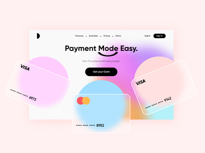 "Online Banking Light ""Landing Page"" top follow like usa ui8 cuberto dribbble light design darkmode clean app popular webdesign ux ui"