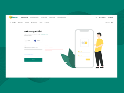"""Sign in Page """"My Lawyer Web Site concept"""" comment follow likw top figma usa ui8 cuberto signin design darkmode clean app popular webdesign ux ui"""