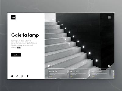 "Online Lights Shop Web site concept ""Minimalism"" website onlineshop designer usa uxui ui8 cuberto minimalism design clean darkmode popular webdesign ux ui"