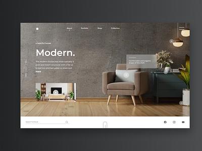 Forniture Website Template figmadesigner usa ui8 cuberto website forniture modern design darkmode clean popular webdesign ux ui