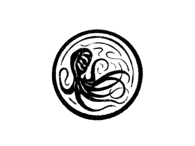 Octopus Mark cephalopod octopus art line art illustration logo mark