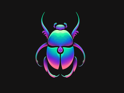 Scarab iridescent bug insect colorful grain texture illustration procreate scarab beetle