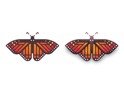 Monarch Butterfly: Texture Added to Vector spot illustrations wing wings butterflies monarch butterfly illustration retro supply co retro supply