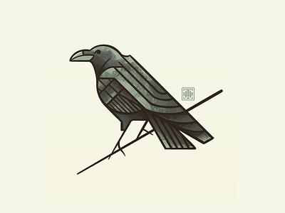 Inktober 2021: Raven artist artwork art 2021 inktober illustrations illustration procreate art deco feather animal geometric black bird raven