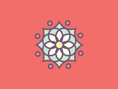Flower Patch No. 2 circular flowers mandalas minimal burst circles icon mandala symmetry flower