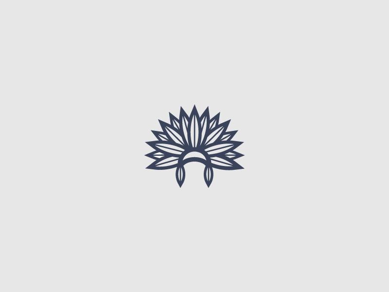 War bonnet (06/365) feathers minimalist minimal logo design logo icon design icon daily design native war bonnet