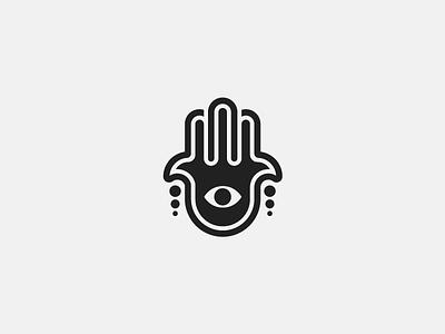Hamsa (15/365) minimalist minimal series 365 project daily design hand of fatima icon design icon hand hamsa symbol religion