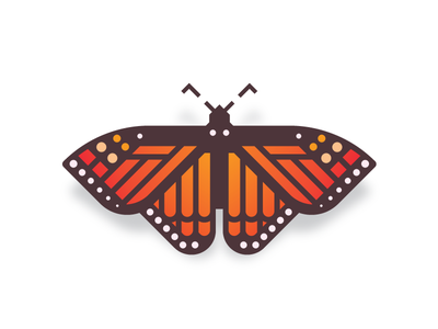 Monarch dribbble
