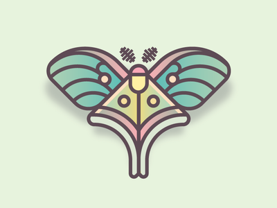 Luna Moth (29/365) butterfly design series daily design bug insect luna moth luna wings moth