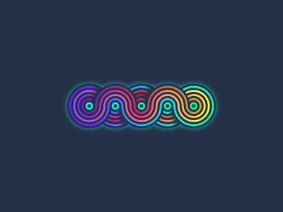 Glowy Wormy Thingy (43/365) groovy curves waves thick lines circles rainbow blur gradient colorful thing worm glow