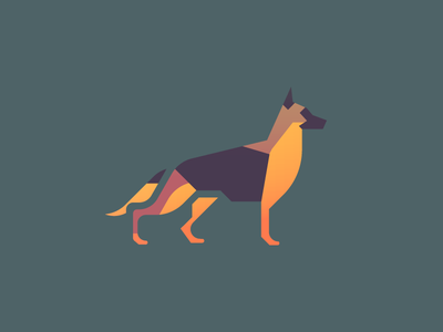 German Shepherd (89/365) design series daily design shepherd pupper doggo illustration puppy dog german shepherd