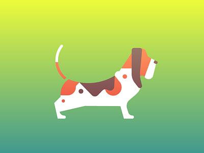 Basset Hound (96/365) daily design design series stylized illustration pet doggo pupper puppy hound basset hound dogs dog