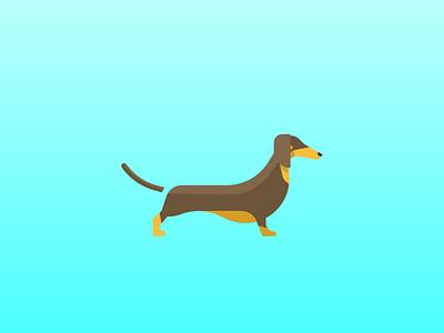 Dachshund (99/365) daily design design series stylized illustration pet doggo pupper puppy hot dog dachshund dogs dog