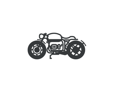 BMW R80 (164/365) roa illustration automotive motorbike scrambler cafe racer bike bmw vintage classic motorcycle