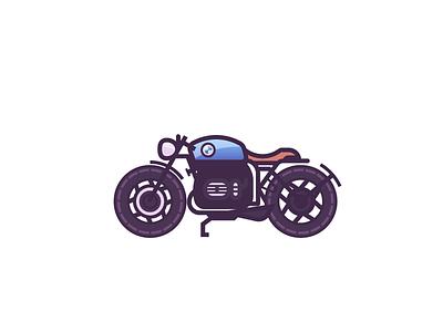 Bmw R80 Color illustration automotive motorbike scrambler cafe racer bike bmw vintage classic motorcycle