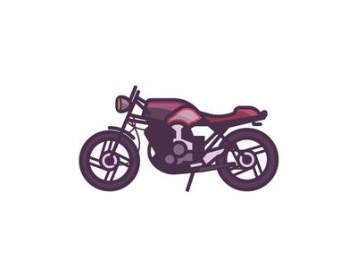 Yamaha XS400 with color daily design illustration vroom automotive road bike roa motorbike vehicle bike motorcycle xs400 yamaha