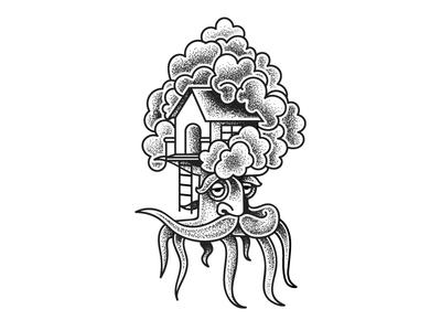 Tree House (Copenhagen Poster Style) (172/365)