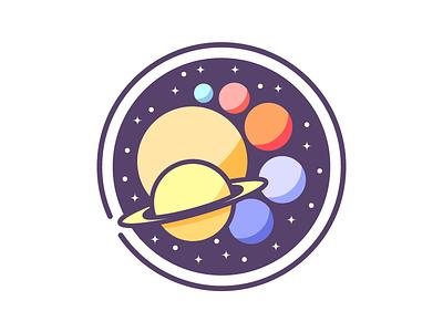 Planets (173/365) universe planet illustration stars neptune uranus jupiter mercury mars saturn space planets
