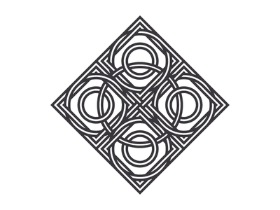 Another Knot (174/365) daily design line art illustration symmetry square circle pain knot celtic knot geometric