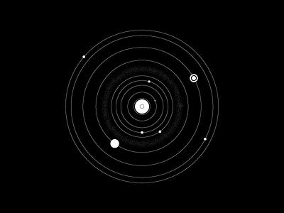 Thin Line Planets (177/365) thin lines planet illustration stars neptune uranus jupiter mercury mars saturn space planets