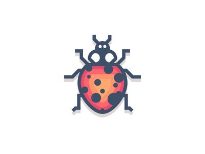 Ladybug (189/365) ladybird spots beetle design series illustration red ladybug insect bug
