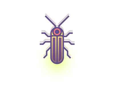 Big Dipper Firefly (192/365) glow spots beetle design series illustration lightning bug firefly insect bug