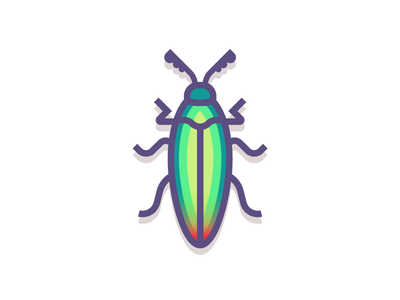 Jewel Beetle (197/365) jewel beetle spots beetle design series illustration jewel green insect bug