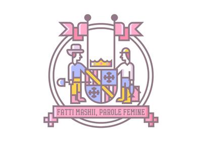 Maryland Crest (226/365) state crest illustration line art badge flag state flag md crown farmer fisherman crest maryland